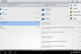 TreeMarks (Bookmark Manager for Tablets)