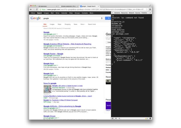ChromeTerm – screenshot 1