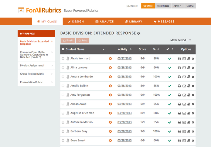 ForAllRubrics – screenshot 2