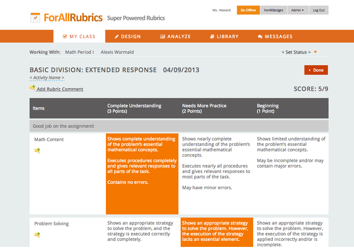 ForAllRubrics – screenshot 3