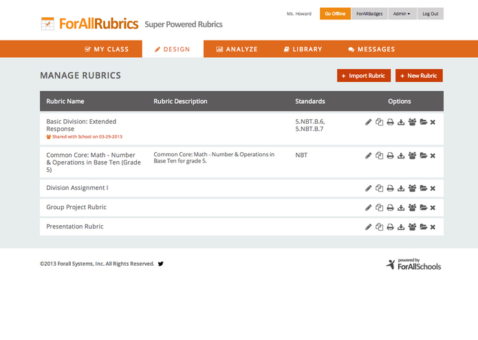 ForAllRubrics – screenshot 4