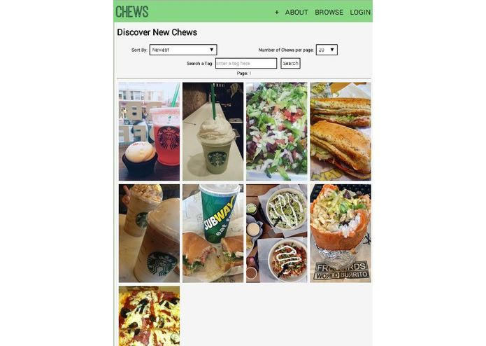 Chews: A Tasty Social Network – screenshot 1