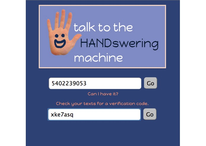 Talk to the HANDswering Machine – screenshot 2
