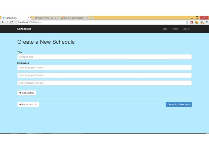 ScheduleIn – screenshot 2