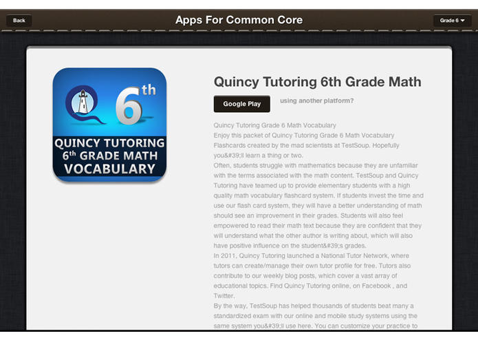 Apps For Common Core – screenshot 3