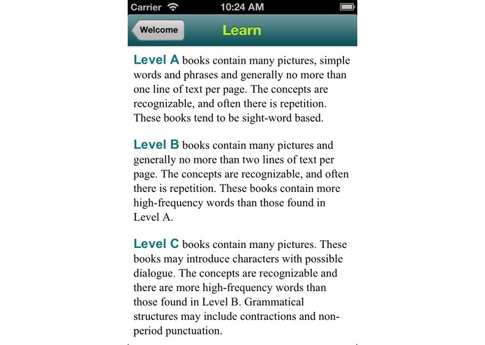 BookLeveler – screenshot 2