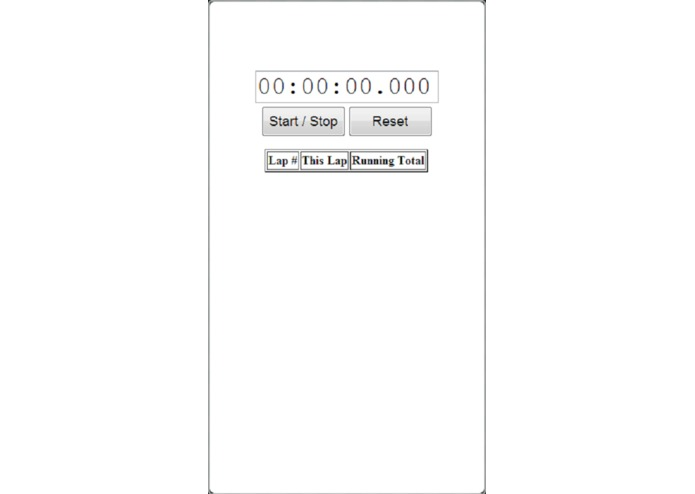 Stopwatch – screenshot 1