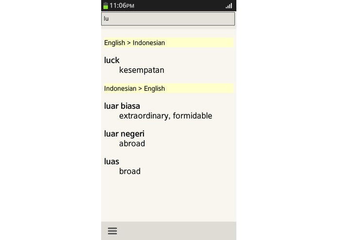 Indonesian English Translator – screenshot 1