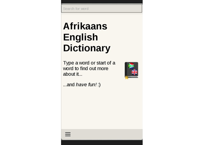 Afrikaans English Dictionary – screenshot 2