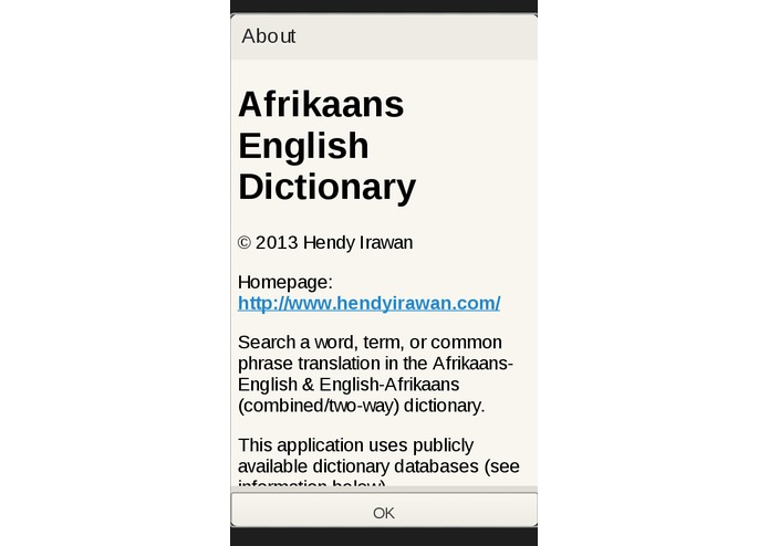 Afrikaans English Dictionary – screenshot 4