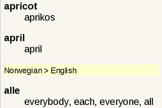 Norwegian English Dictionary