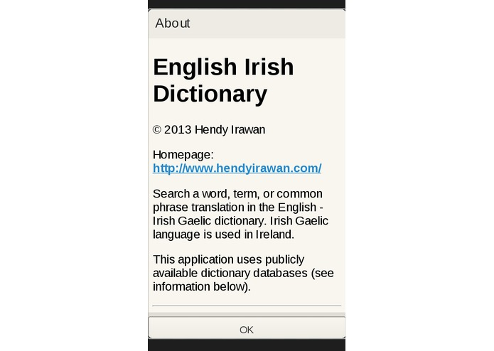 English Irish Dictionary – screenshot 4