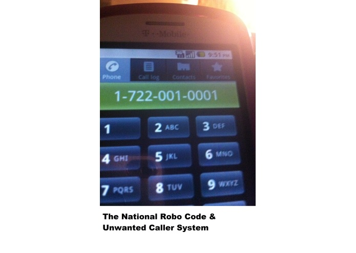 The National Robo-Code & Unwanted Caller System – screenshot 1