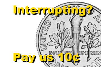10¢ call connection fee (pay me to receive your call)