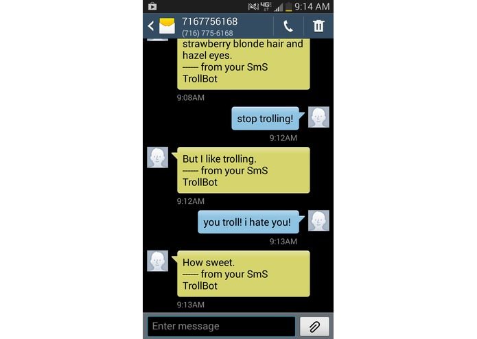 SmS TrollBot – screenshot 2