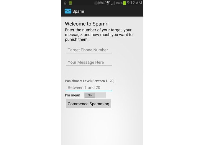 Spamr – screenshot 1