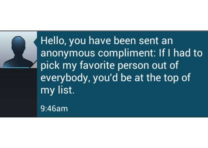 Complimentio - The Anonymous Compliment Texter – screenshot 3