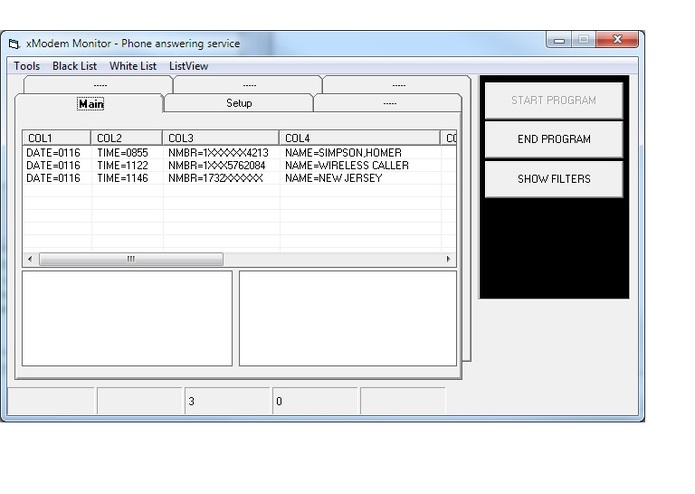 PC Modem call handler – screenshot 1