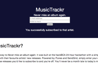 MusicTrackr