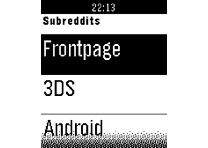 Rebble - Reddit Client for the Pebble Smartwatch – screenshot 5