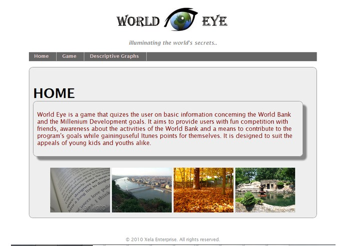 World Eye Iphone/ Web App – screenshot 1