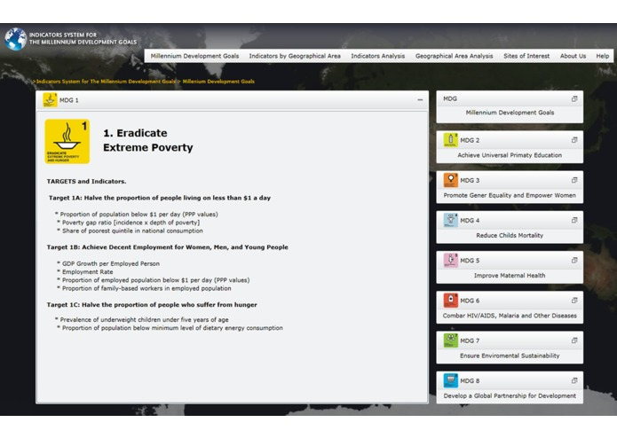 Indicators System for The Millennium Development Goals – screenshot 4