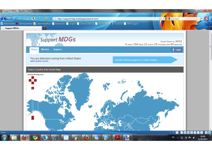 Support MDGs – screenshot 1