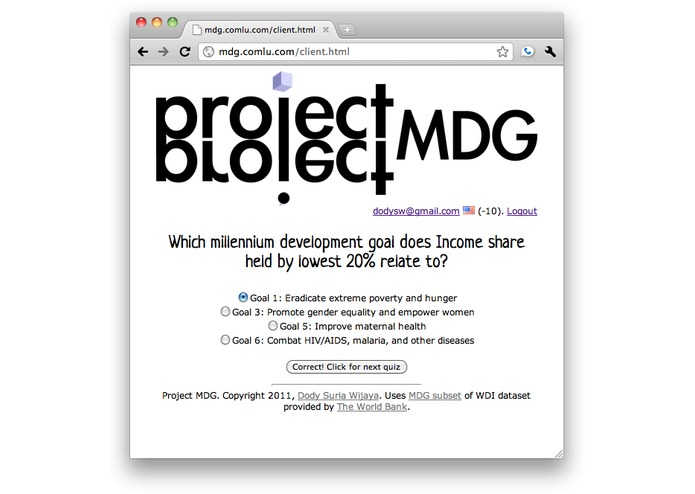 Project MDG – screenshot 3