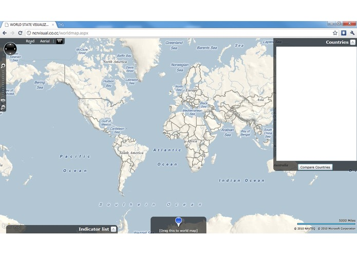 World data visualization system – screenshot 1