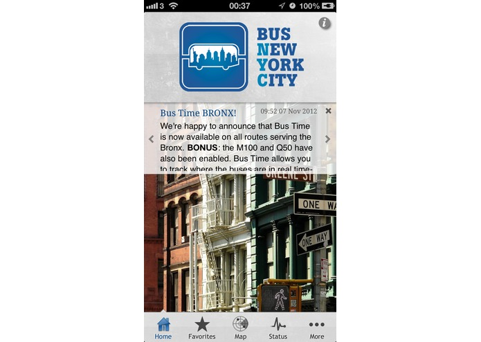 Bus New York City for iPhone – screenshot 1