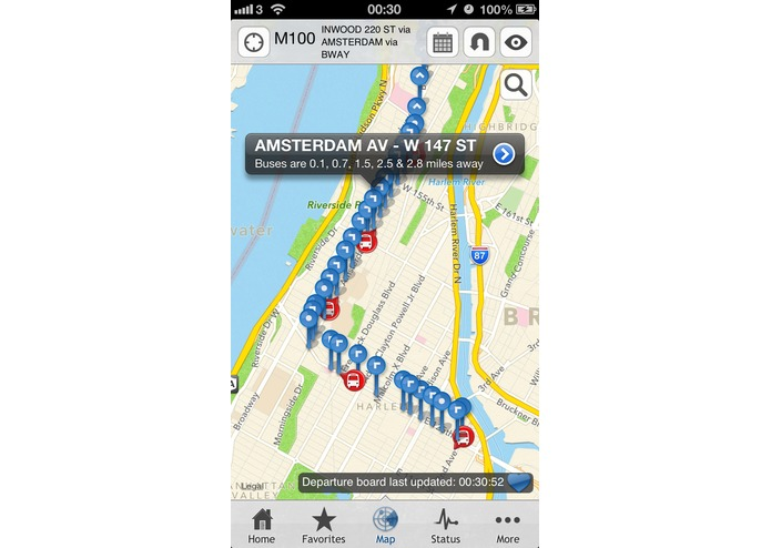 Bus New York City for iPhone – screenshot 3