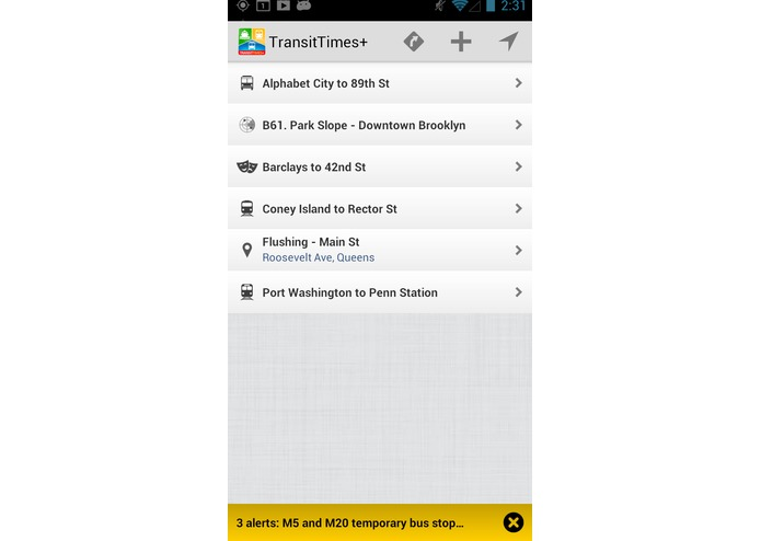 TransitTimes+ – screenshot 1