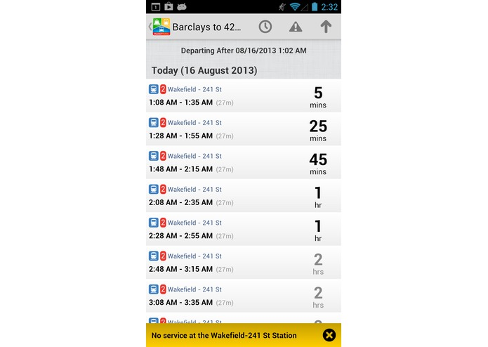 TransitTimes+ – screenshot 2