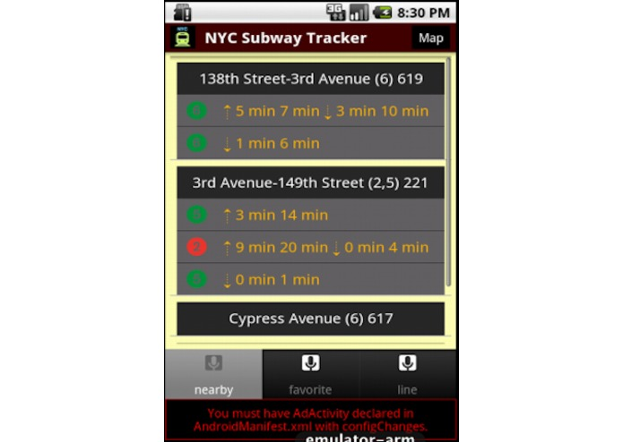 NYC Subway Time for All Train Lines (Design for Android) – screenshot 2