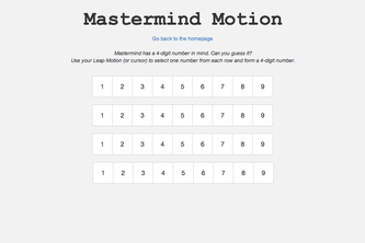 Mastermind Motion for Leap Motion