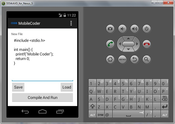 Mobile Coder – screenshot 1