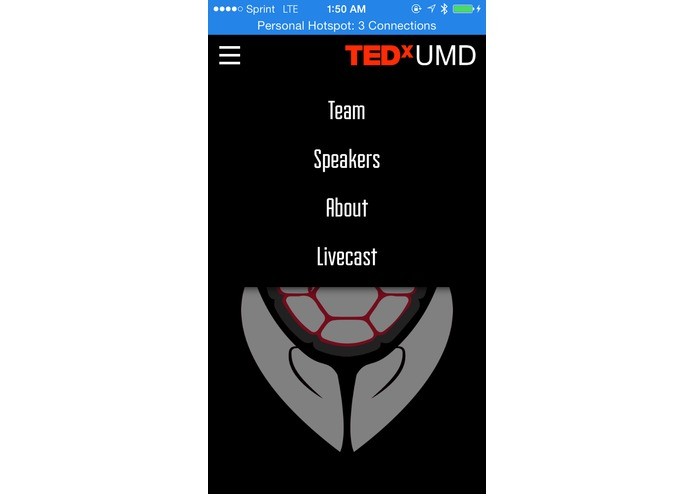 TEDxUMD Website – screenshot 1