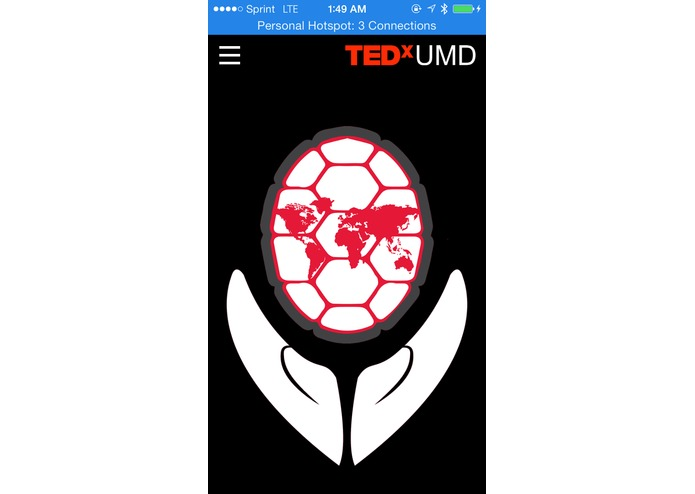 TEDxUMD Website – screenshot 3