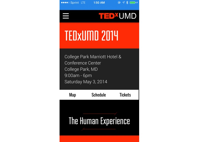 TEDxUMD Website – screenshot 6