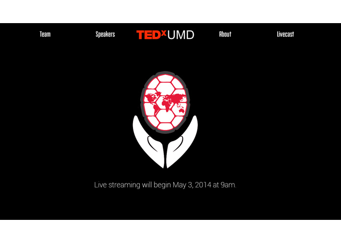 TEDxUMD Website – screenshot 8