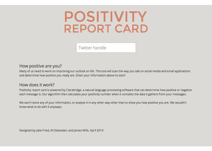 Positivity Report Card – screenshot 4