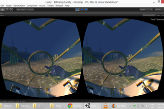Bermuda Triangle: Oculus Rift and LeapMotion Game