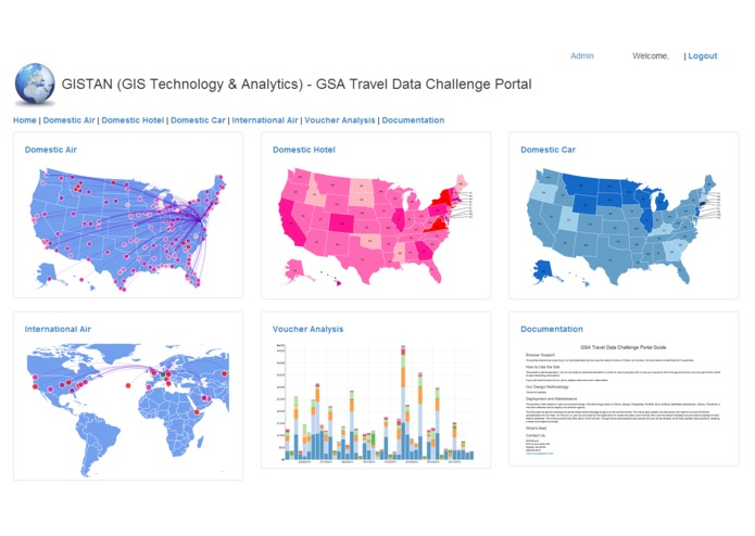 GISTAN (GIS Technology & Analytics) - GSA Travel Data Challenge Portal – screenshot 1
