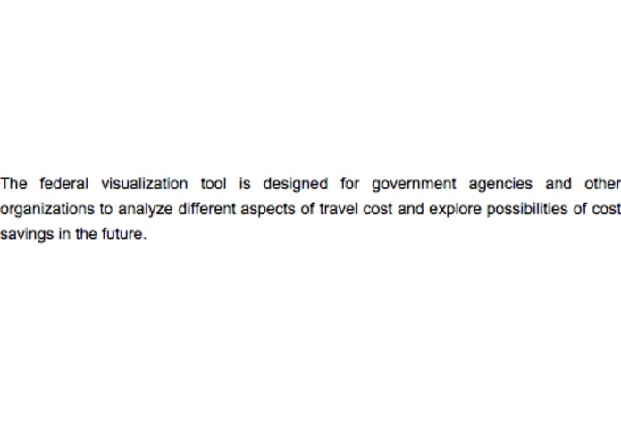 Federal Travel Visualization Tool – screenshot 4