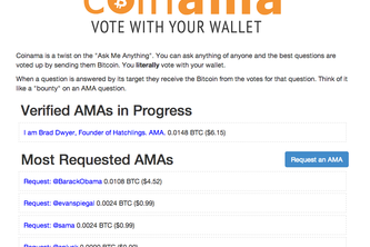 Coinama - vote with your wallet