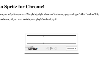 Spritz for Chrome