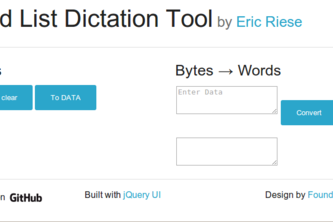 PGP Word List Dictation Tool
