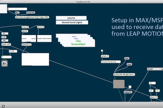Leap Motion to MAX/MSP - an elegant hack