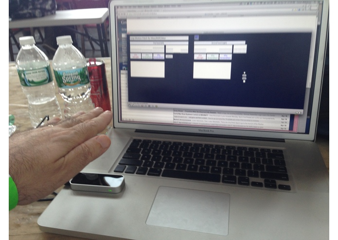 Leap Motion to MAX/MSP - an elegant hack – screenshot 2
