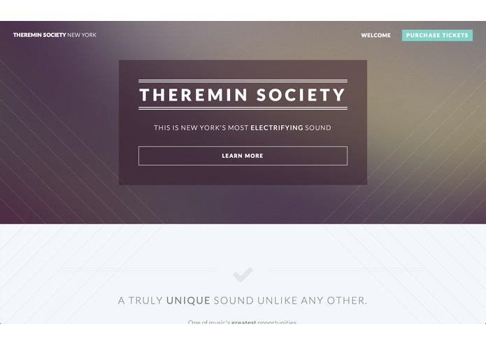 Theremin Society Webpage – screenshot 1